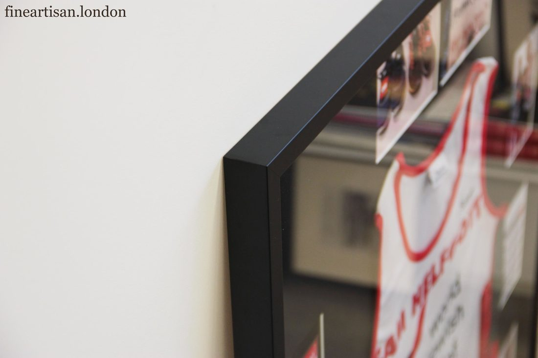 Framing a Marathon Sports Vest & Medal - Fine Artisan London Frame ...